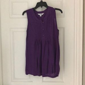 Beautiful Ladies Purple High-Low Sleeveless Tunic